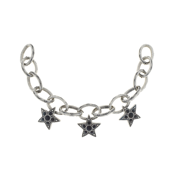 14pp, 24pp Chain centerpiece for necklace with stars