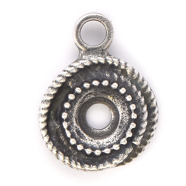 39ss Wave Round Stone setting with top loop