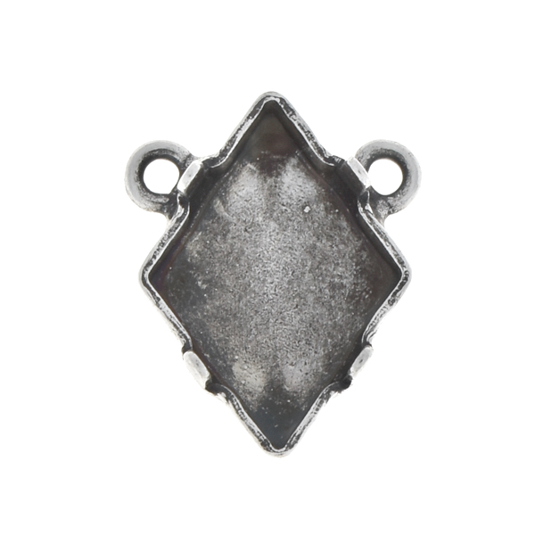14x10.5mm Tilted Spike stone setting with two top loops
