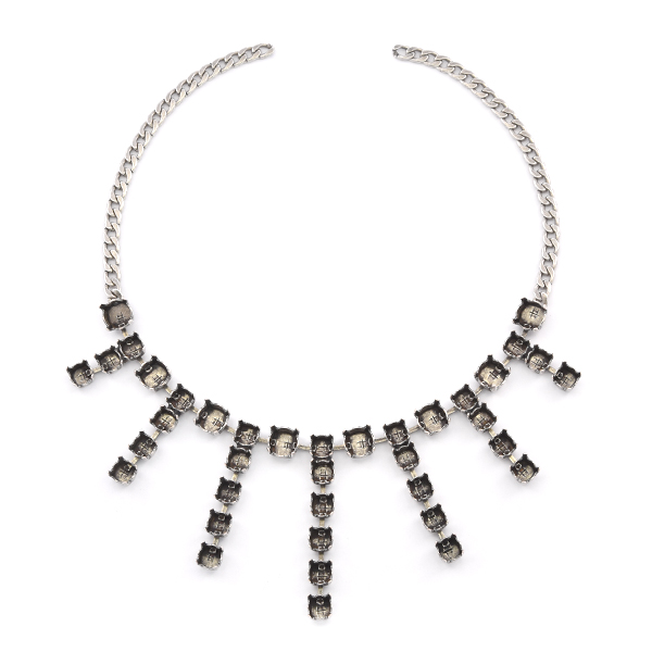 29ss, 39ss Cup chain Necklace base with Flat gourmette chain