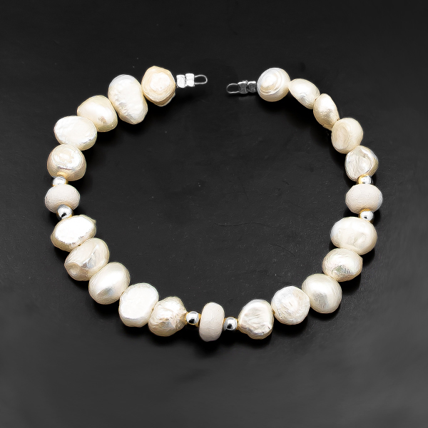 15.5cm Sea Shell Beads Strands connector with Nickel plating color findings