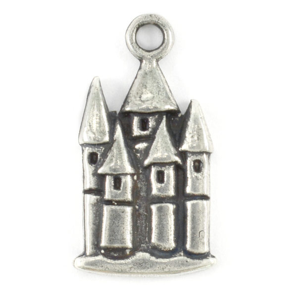Castle pendant with top loop