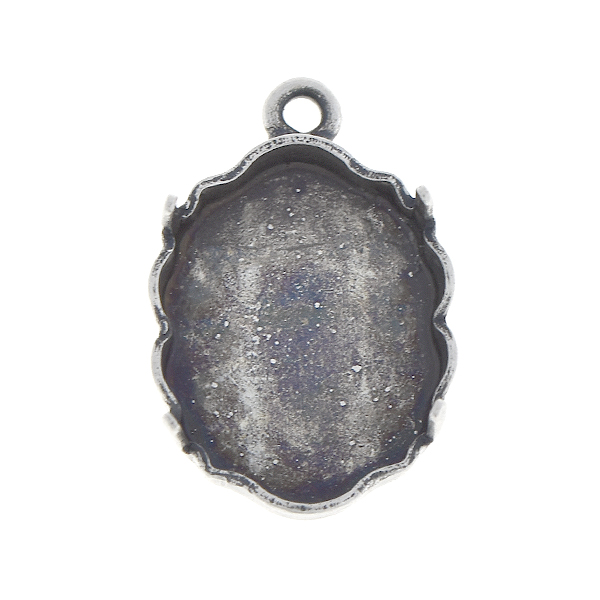 14x11mm Baroque Mirror stone setting with one top loop