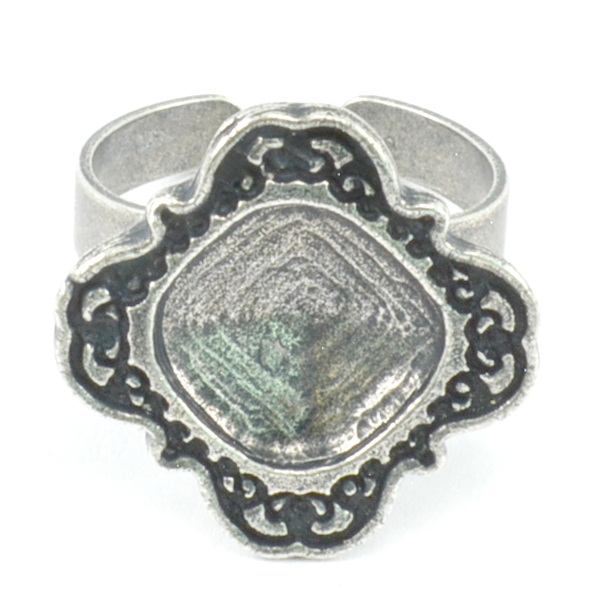 12-12mm Square Decorated casting setting ring base