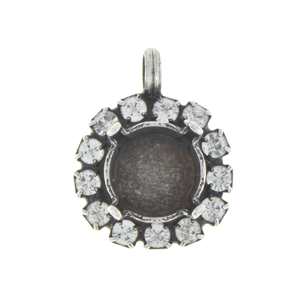 39ss Stone setting with 14pp Rhinestones and top loop