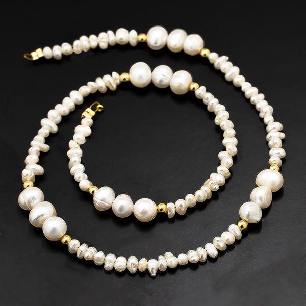 33cm Sea Shell Beads Strands connector with Gold plating color findings