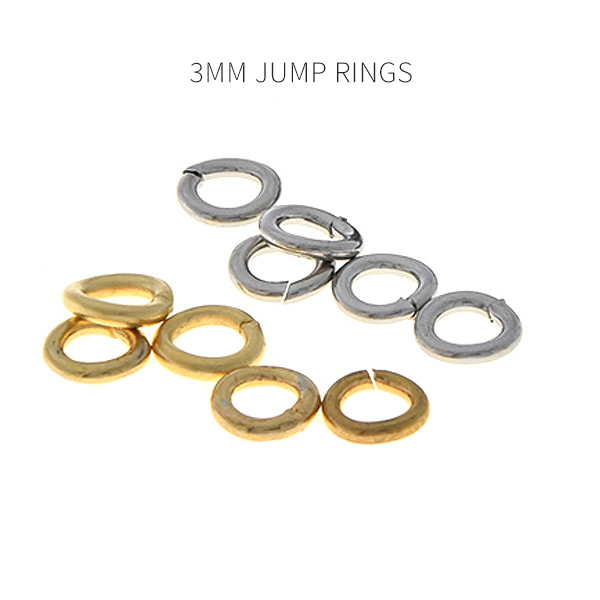 3mm Jewelry Jump rings 200 pcs/pack