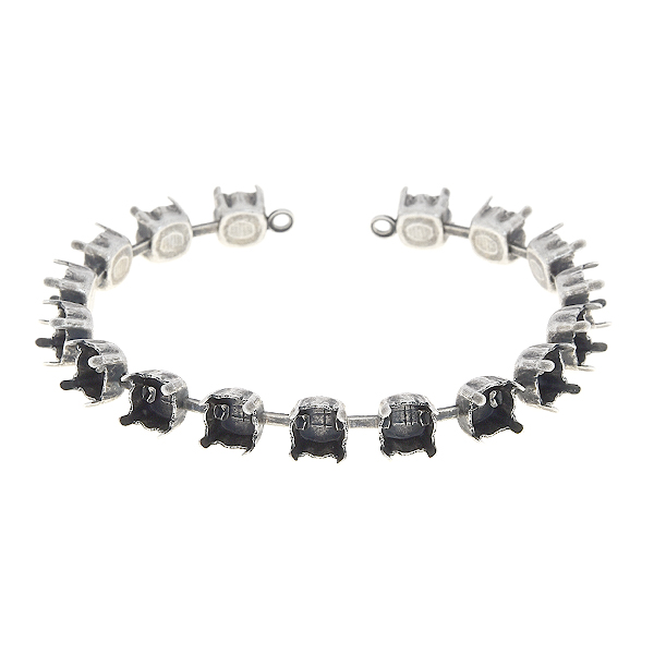 29ss Cup chain bracelet base with soldered loops - 17 settings