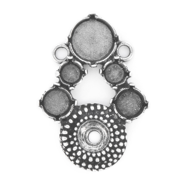 29ss, 12mm Rivoli, 39ss Dotted setting Pendant base with two loops