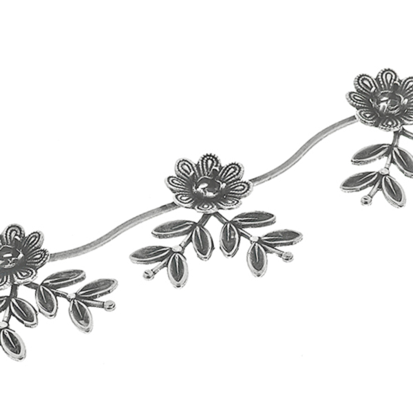Unique 24ss Flower Branch with Leaves Cup chain for Bracelets/Necklaces by meter