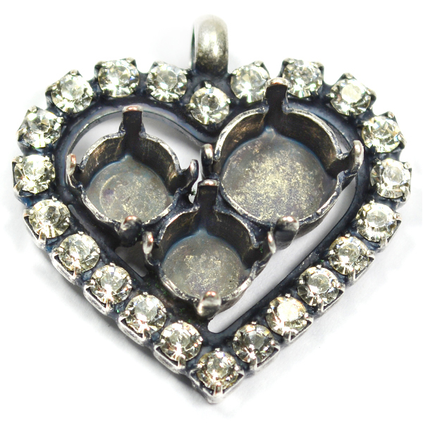 29ss and 39ss Heart pendant base with top loop