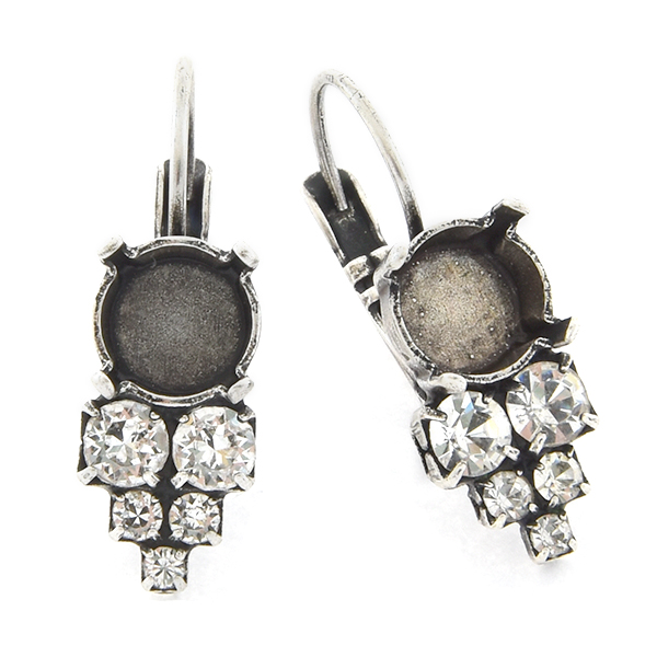 39ss with 14pp, 18pp, 32pp Rhinestones Lever back Earring base