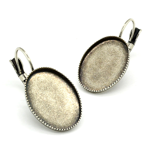 13X18mm Oval Flat back Hanging earring bases