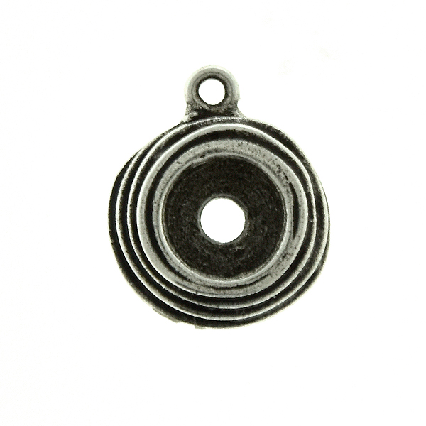 29ss wavy metal casting Pendant base with top loop