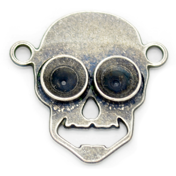 32pp Skull shape pendant base with two loops