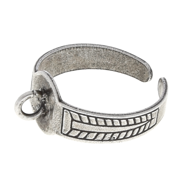 Adjustable decorated ring base with loop