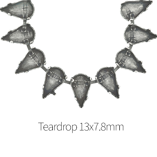 13x7.8mm Teardrop Cup chain for Necklace - 1Meter