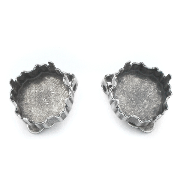 14mm Jelly Fish Clip-on Earring base