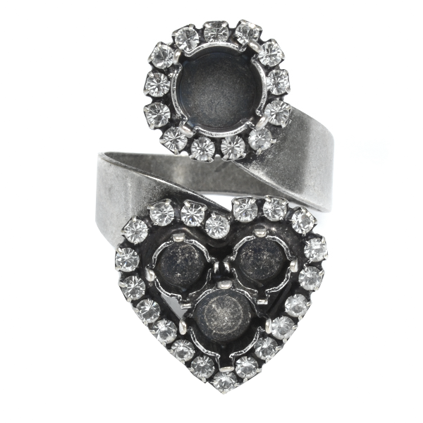 Snake ring base with 39ss and Heart 24ss/29ss