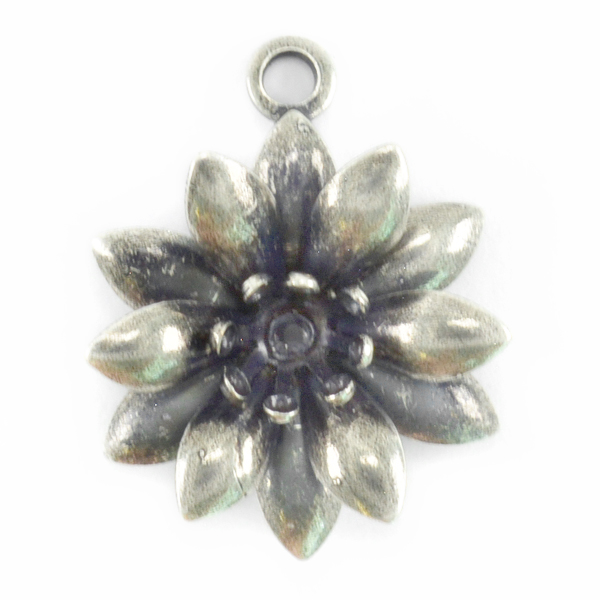 24ss Flower Pendant base with Top loop