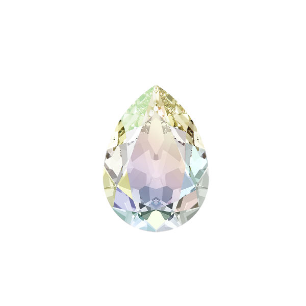 Pear shape 10-7mm Crystal Ab color Swarovski 4320