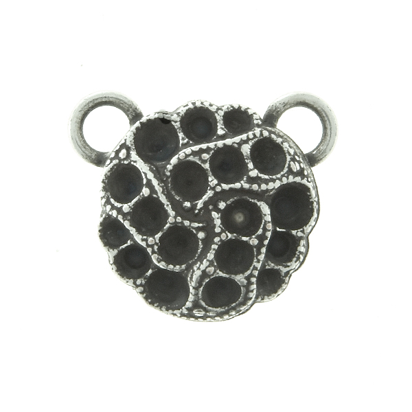8pp, 14pp, 18pp Decorative metal casting Pendant base with two top loops