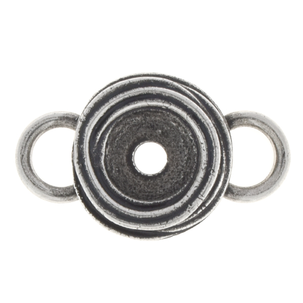 39ss Wavy Jewelry connector with two side 8mm loops