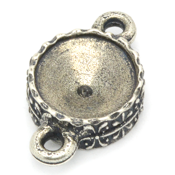 12mm Rivoli 1122 Decorated casting with 2 side loops
