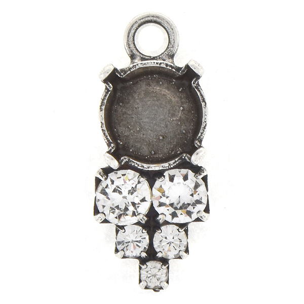 39ss with 14pp, 18pp, 32pp Rhinestones Pendant base with top loop