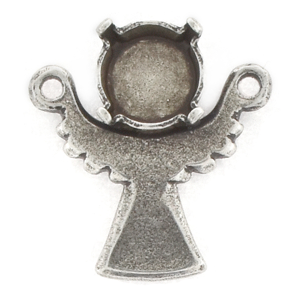 39ss Angel Pendant base with two top loops
