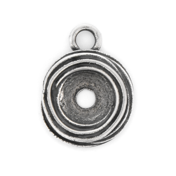 39ss Wavy Pendant base with top loop