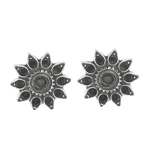 8pp and 32pp metal casting Daisy Flower Stud Earring bases