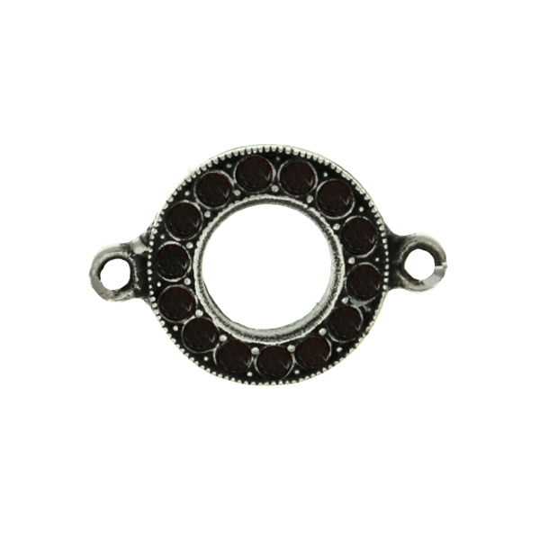 8pp Hollow Circle metal casting Connector base with two side loops