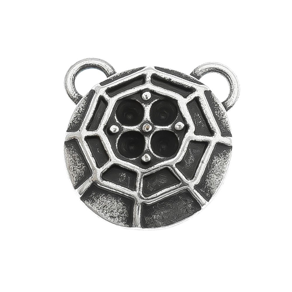 14pp Cobweb metal casting Pendant base with two top loops