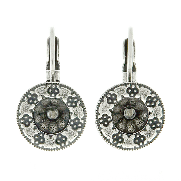 29ss Round Decorated Embedding Elements Lever Back Earring bases