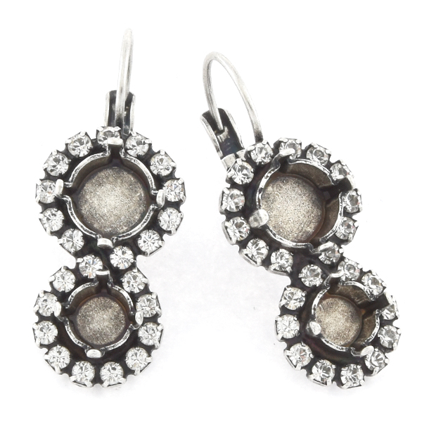 29ss, 39ss with Rhinestones Figure-eight Lever back Earring base