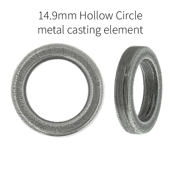 14.9mm metal casting hollow round element
