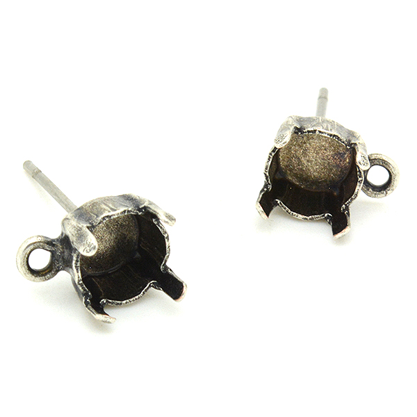 29ss Stud Earring base with bottom loop