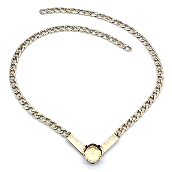 Gourmet Necklace base with 12-12mm setting
