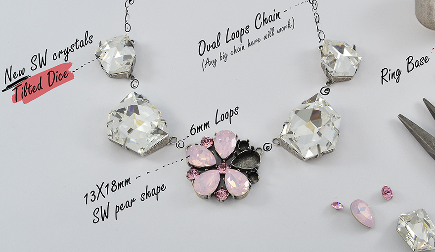 The NEW Swarovski Tilted Dice crystals