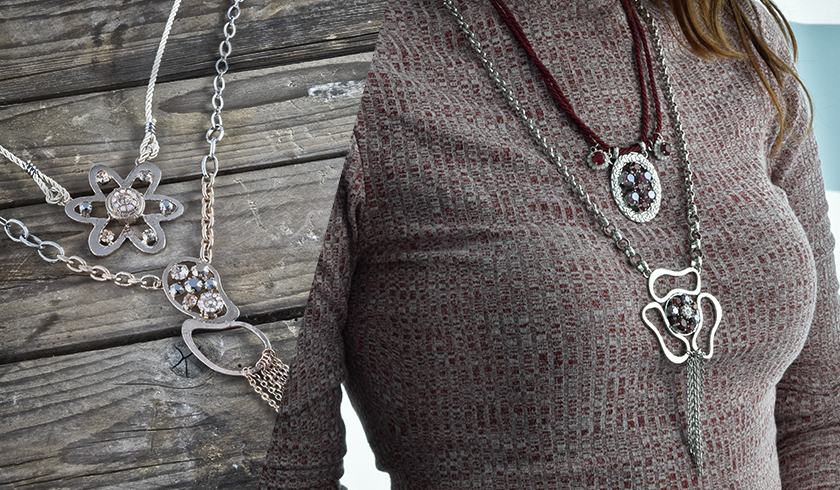 Creating oversize style necklaces