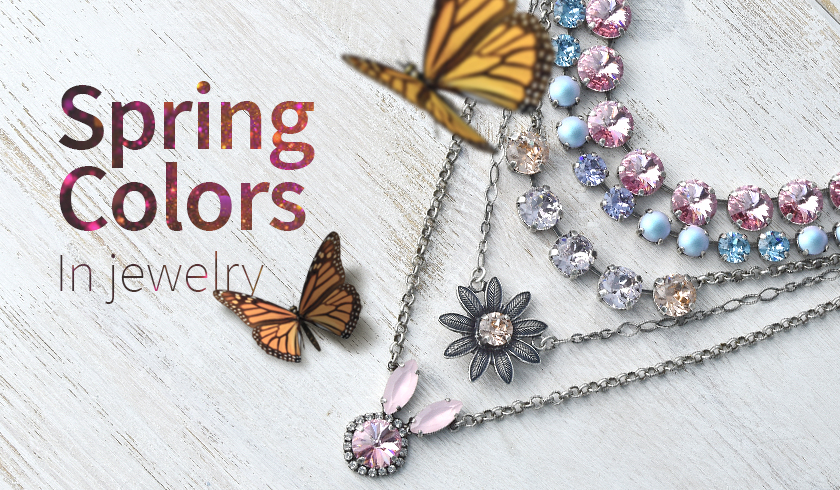 Creating SW crystal color necklaces for spring