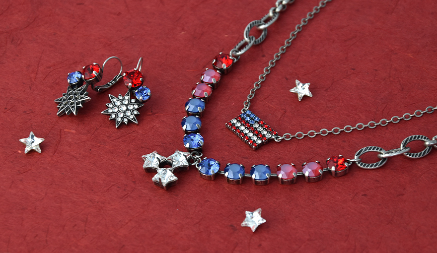 Creating Red, White and Blue 4th of July jewelry