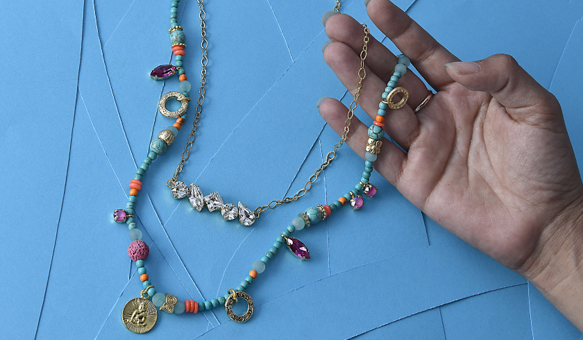 Creating colorful asymmetric and trendy jewelry collection