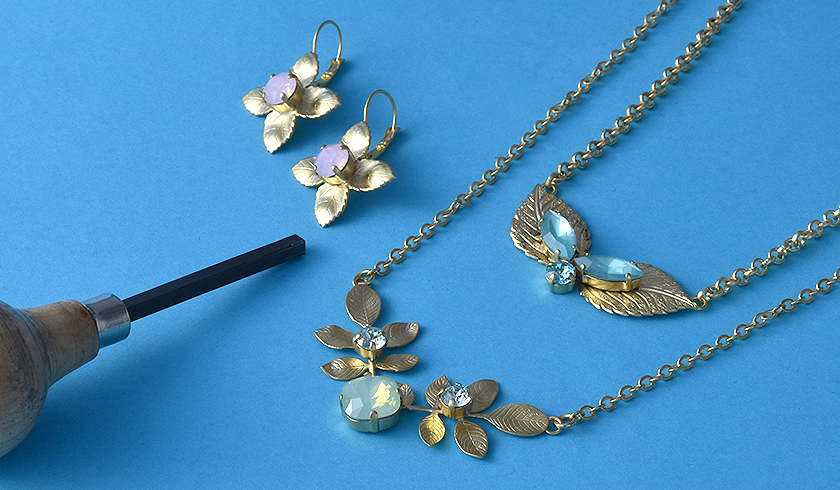 Creating gorgeous golden leaf jewelry