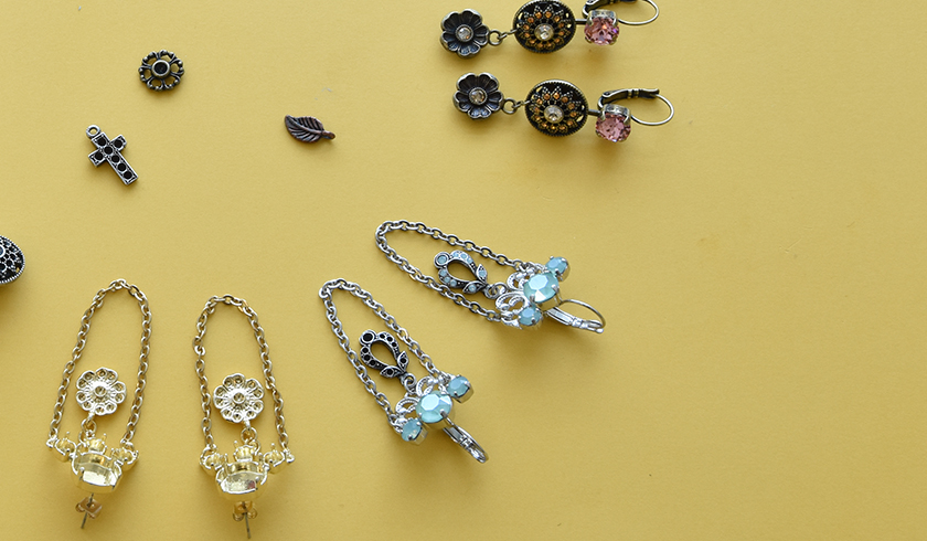 Making earrings with charms