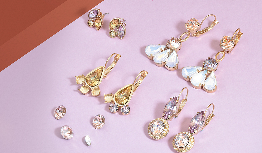 Autumn colors designed SW crystal earring collection