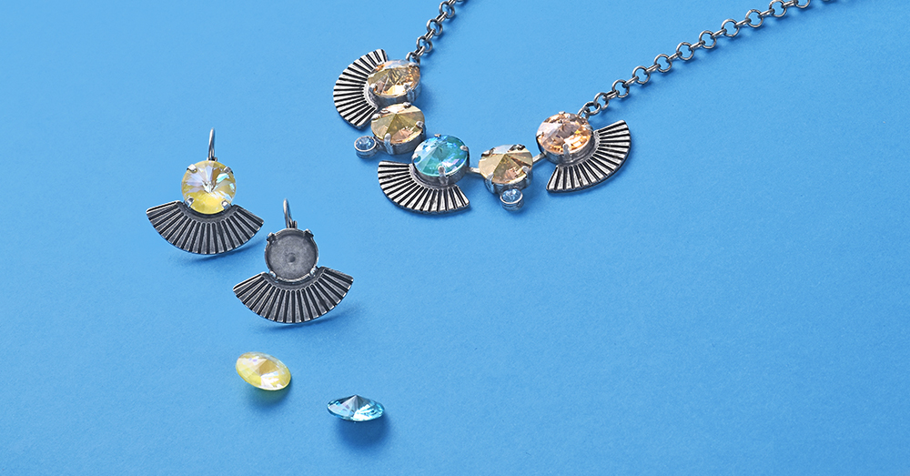 Egypt Style Jewelry bases with Swarovski Crystals Inspiration