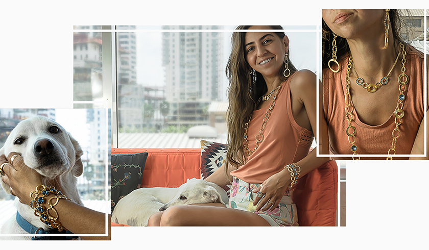 Chunky layered necklaces with Crystals Inspiration
