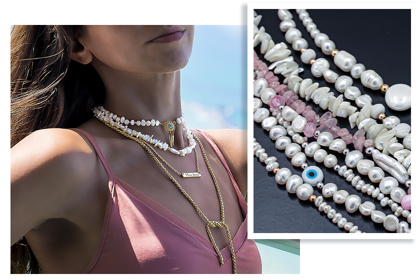 New trend - jewelry with Sea Shell Beads Strands connectors and Swarovski Crystals